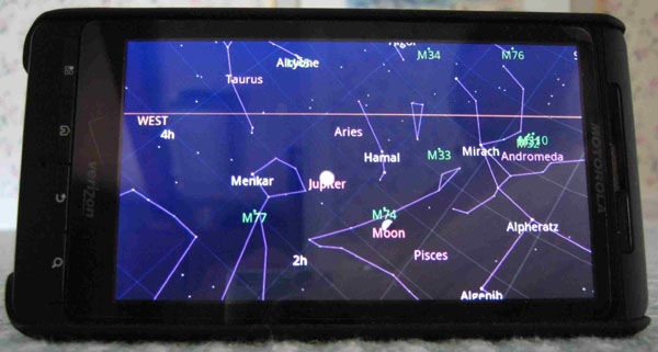 Google sky map for android good heavens