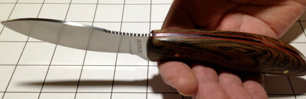 Hege Custom Perfect Field Knife scale liners