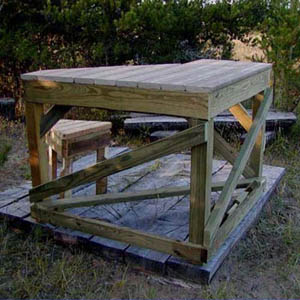 How To Build A Wooden Shooting Bench | Apps Directories