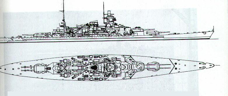 how to draw a complicated ship from top view