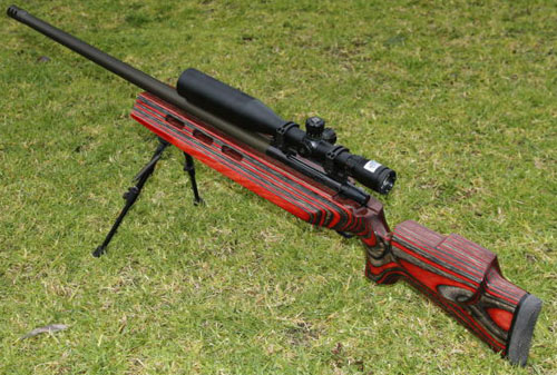 Custom built .338 Lapua rifle.