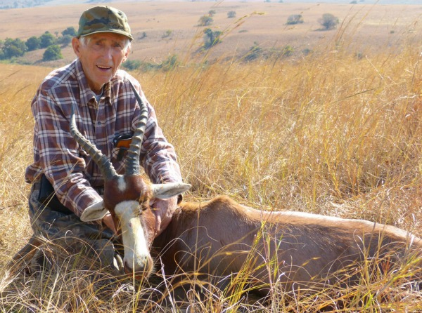 Duane Wakeman with blesbok taken in South Africa in 2013.