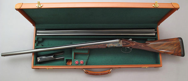 A. H. Fox BE Grade with case and two sets of barrels