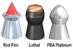 GAMO pellets: Red Fire, Lethal and PBA Platinum.