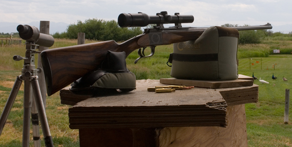Hughes-Hagn rifle at the range