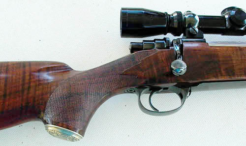 Custom Husqvarna hunting rifle by Larry Brace