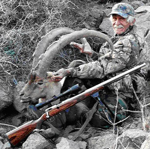 Jim with his ibex.