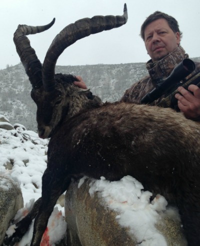 Flemming with his ibex