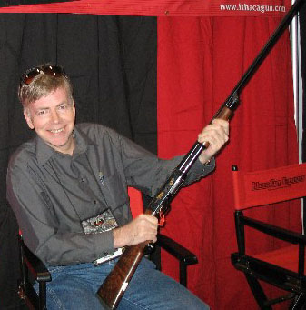 Randy with 28 Gauge Ithaca Model 37 Pump Shotgun