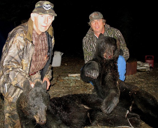 Dad and Chuck's black bears.