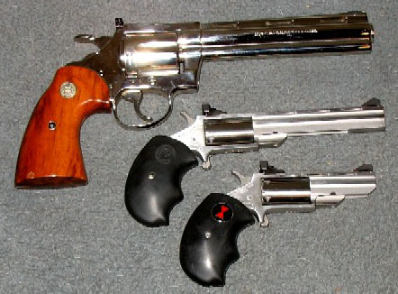 Colt Diamondback and NAA minis.