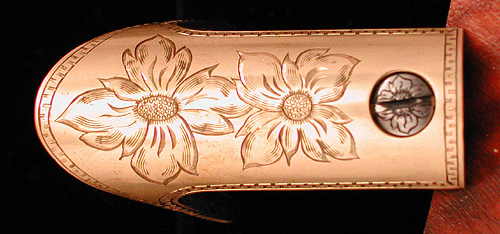 Henry rifle floorplate engraved by Rocky Hays