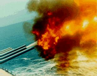 Photo of Gunfire - USS Missouri, 1989