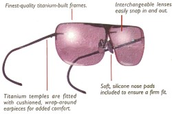 Post 4 Optics Titanium Shooting Glasses