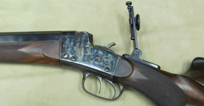 Remington-Hepburn rifle receiver with tang sight