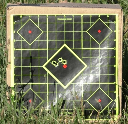 Target shot at 22 feet with Remington RP45 Pistol
