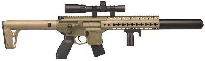SIG SAUER MCX ASP Airgun with SIG SAUER 1-4x24WR Scope