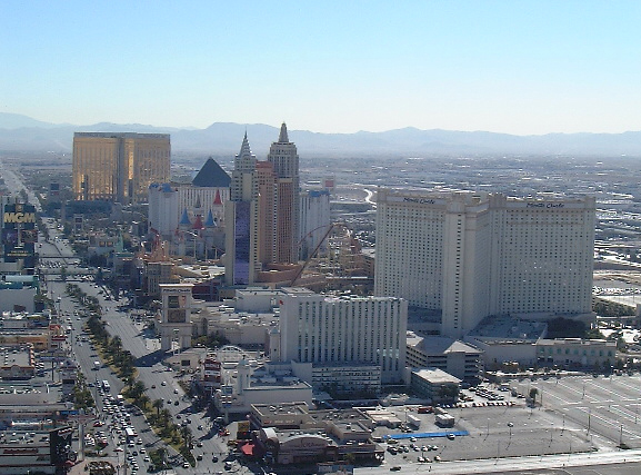 The southern part of the Strip