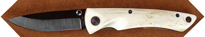 Stone River Ceramic Folding Stag Handle Knife