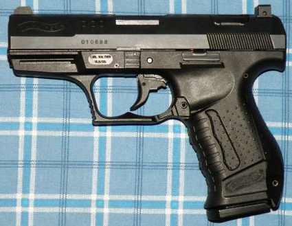 walther p99 9x19mm pistol