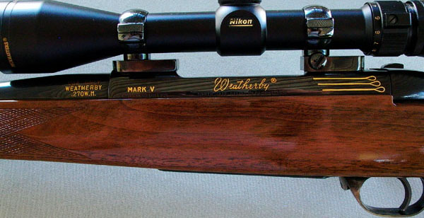 Weatherby Mark V left receiver