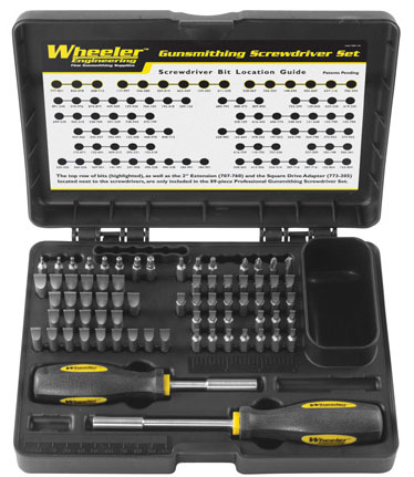 Wheeler Professional Gunsmith Screwdriver Set