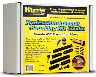 Wheeler Engineering Professional Scope Mounting Kit Combo