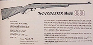 Winchester Model 88 catalog page